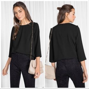 & Other Stories Black Blouse Size 6 US